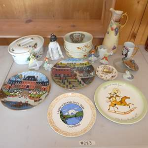 Lot # 223 - Vintage Collectible Plates, Two Hall Superior Dishes, Figurines Made in Japan and More