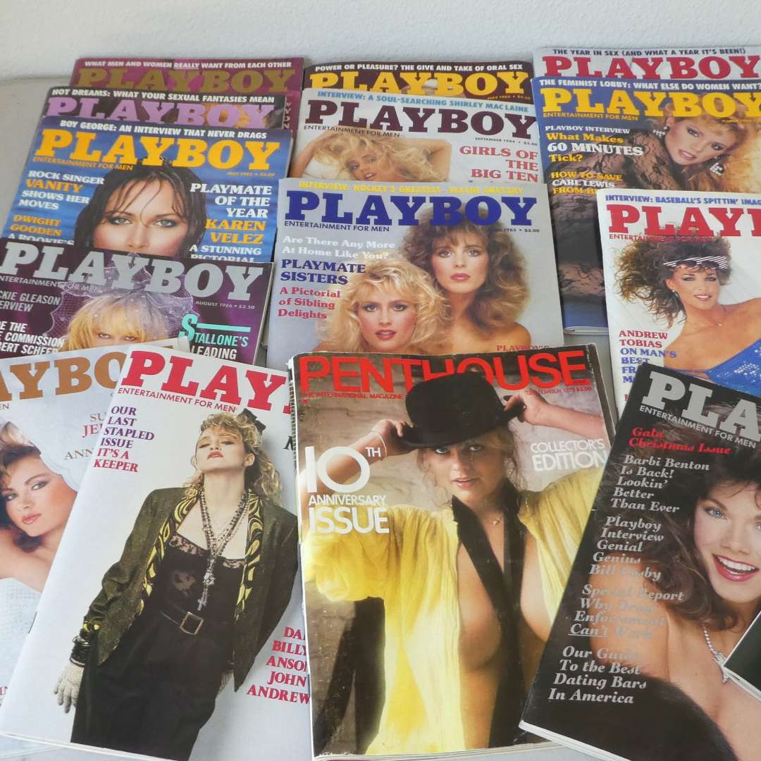 Lot # 59 - Vintage Playboy Magazine (Some Still Wrapped In Plastic)