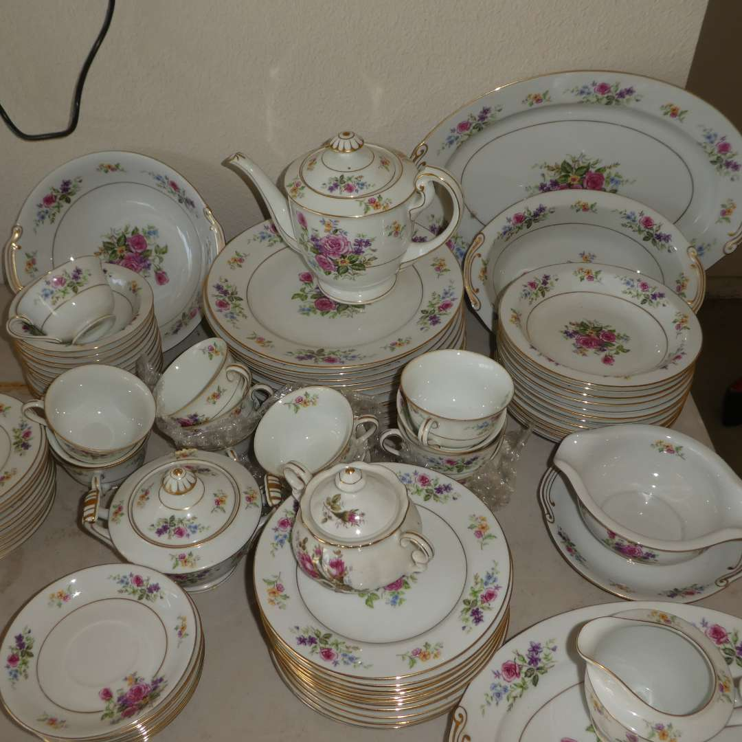 Lot # 61 - Lot of Puritan China (Melody Made in Japan)(A Few Have Light Chipping)