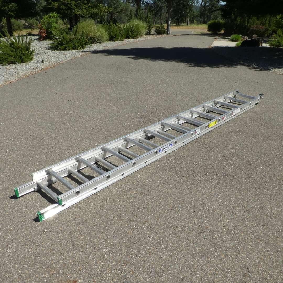 Lot # 66 -  24' Werner Extension Ladder