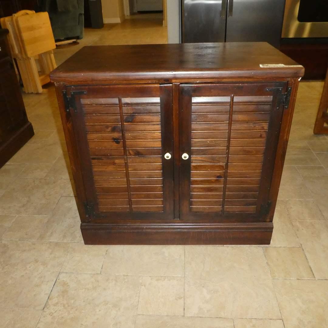 Lot # 6 - Vintage Ethan Allen Shutter Door Cabinet(Lots  5,6,7 Match)