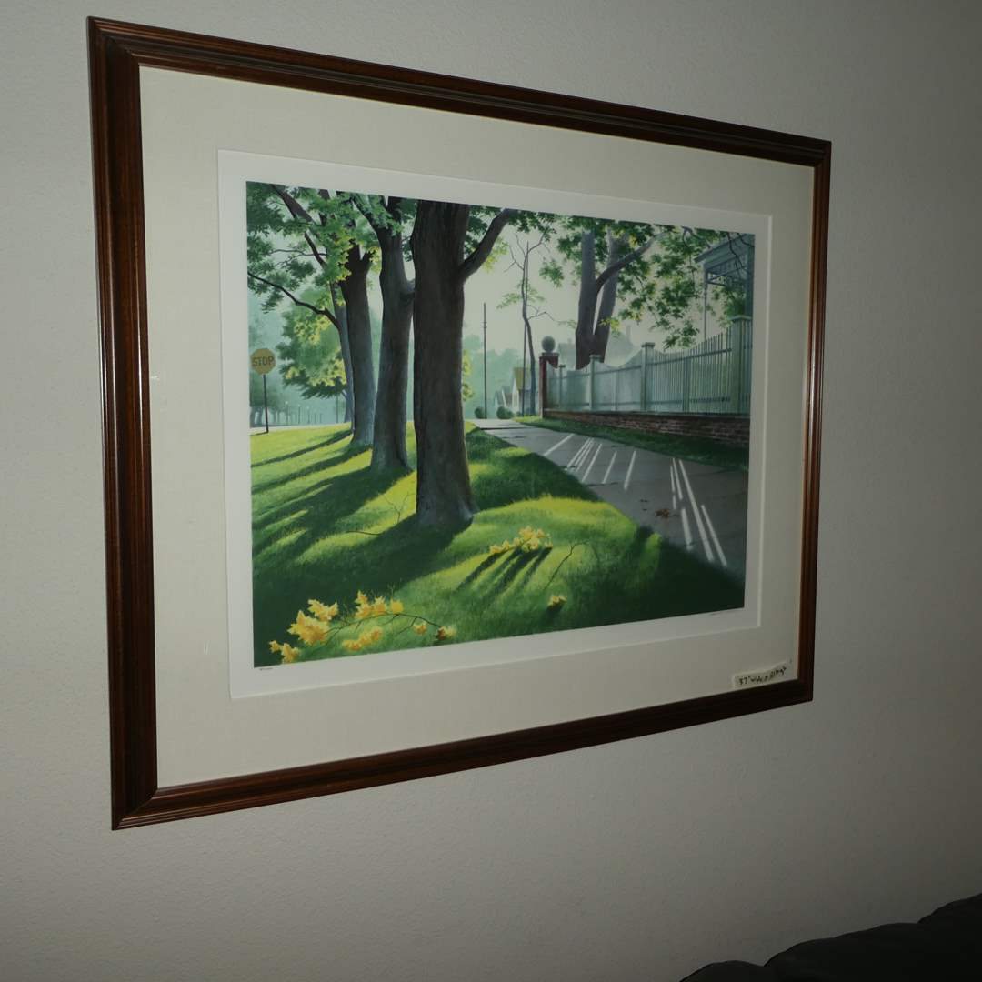 """Lot # 13 - Authentic Original Serigraph """"An American View-Shadow Walk"""" By Addison (main image)"""