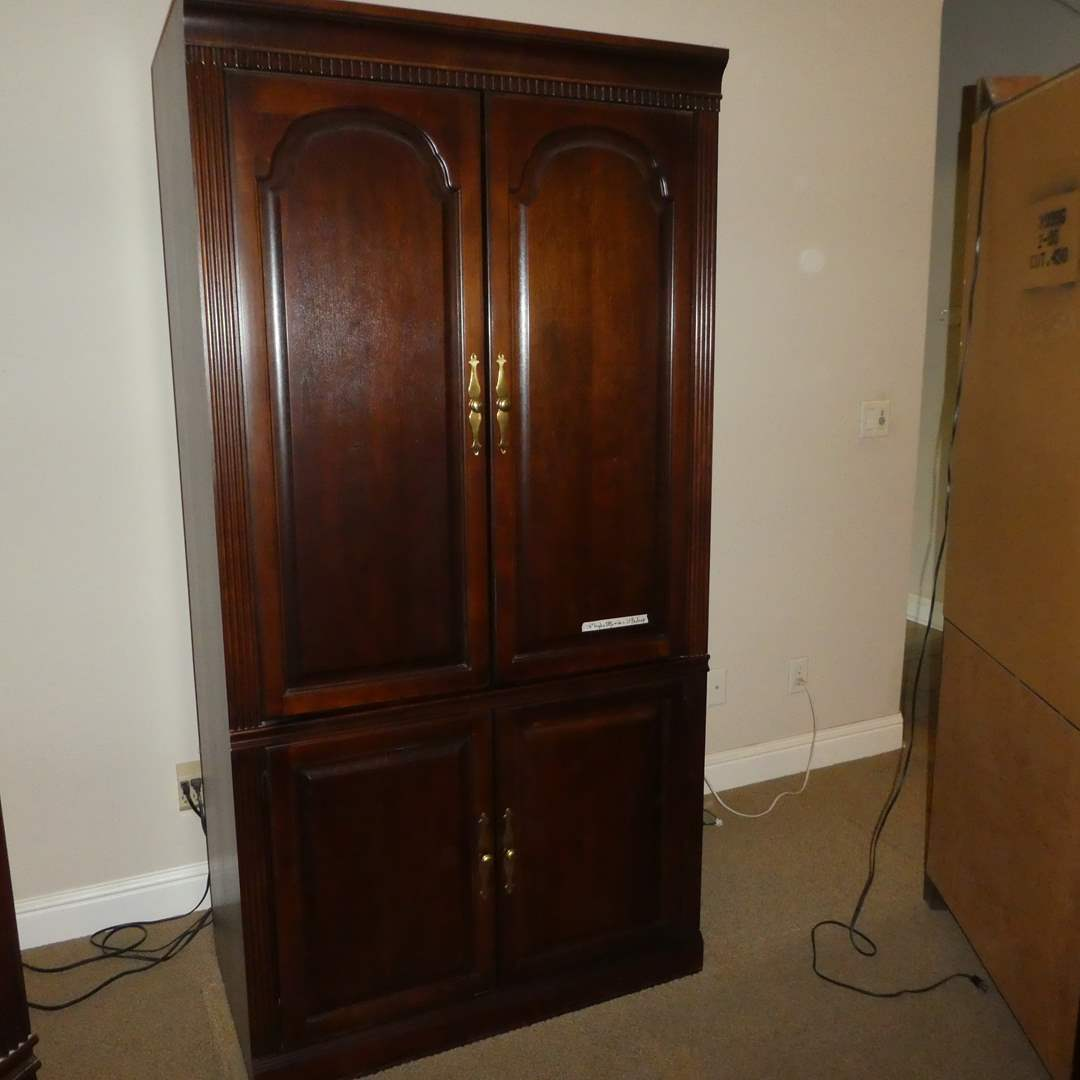 Lot # 23 -Beautiful Wood Entertainment Center(Lots 21,22 &23 Match/Can be Put Together as Large Wall Unit)(Content not included) (main image)