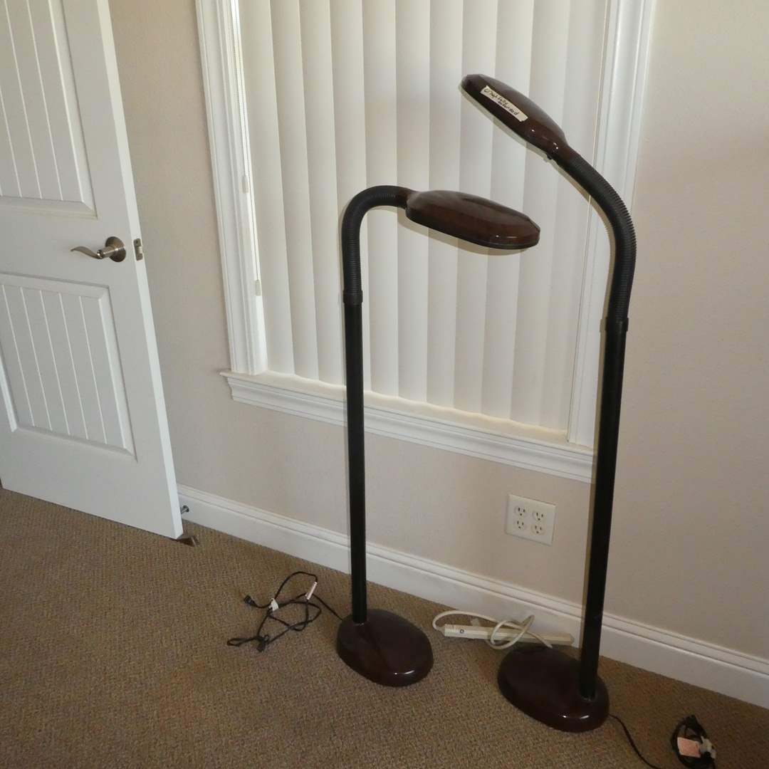 Lot # 39 - Two Adjustable Floor Lamps (main image)