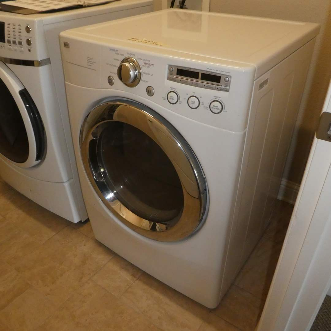Lot # 52 - LG Electric Dryer (Model DLE5955W) (main image)