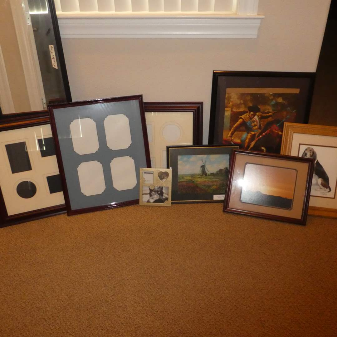 Lot # 57 - Variety of Picture Frames and Three Framed Prints (main image)