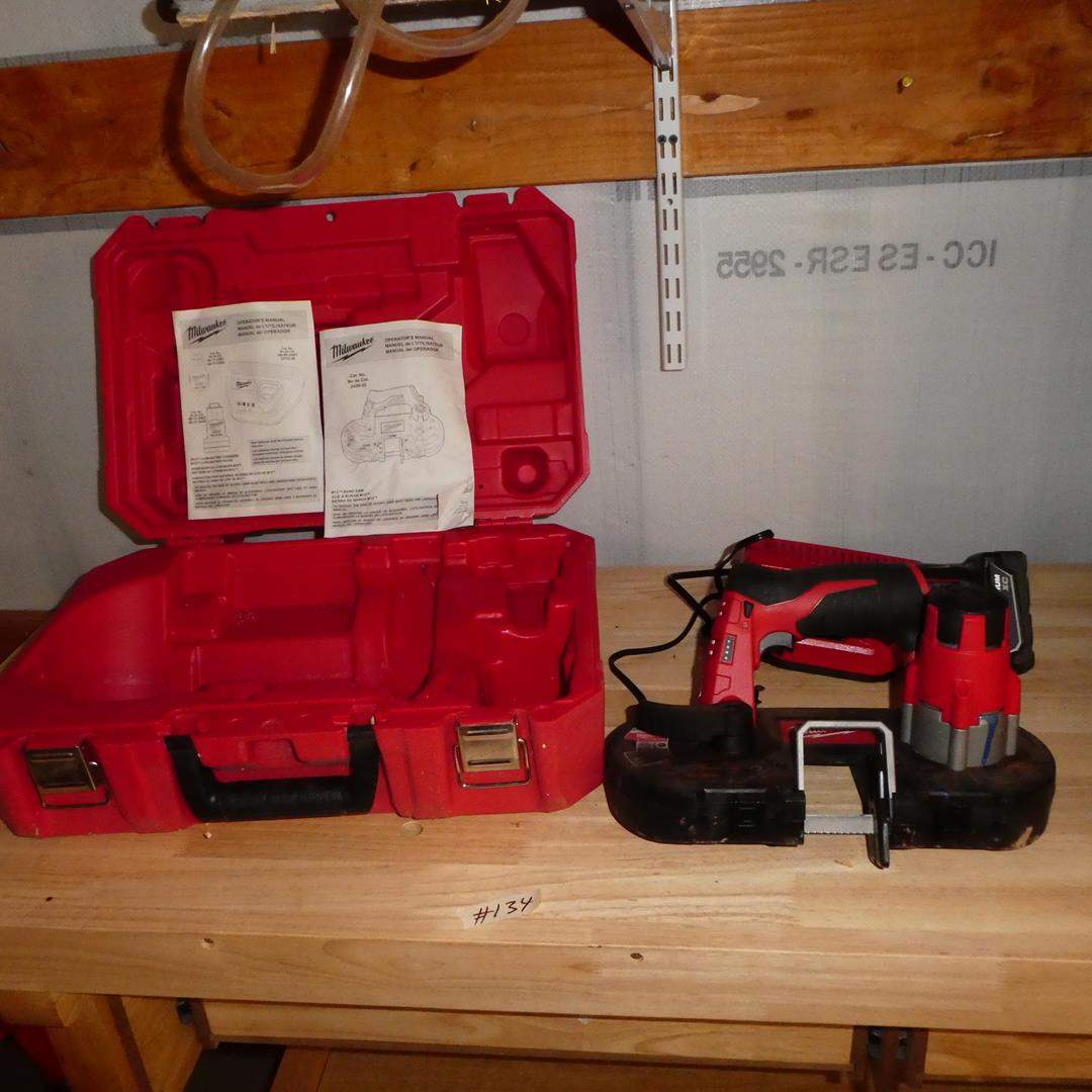 Lot # 134 - Milwaukee M12 Band Saw w/Manual & Charger