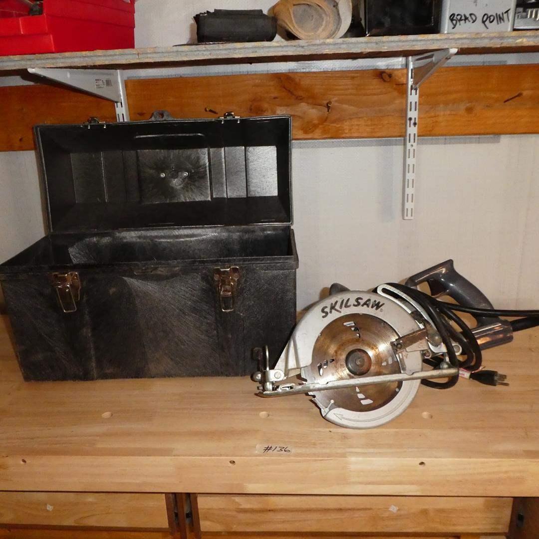 Lot # 136 - SKILSAW & Tuff Box (main image)