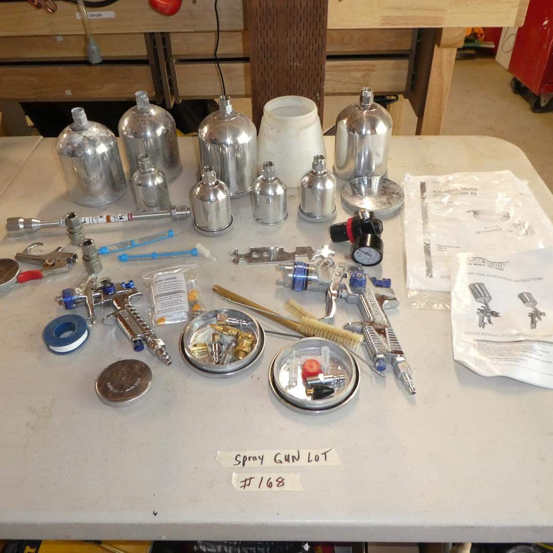Lot # 168 - Paint Spray Guns & Accessories
