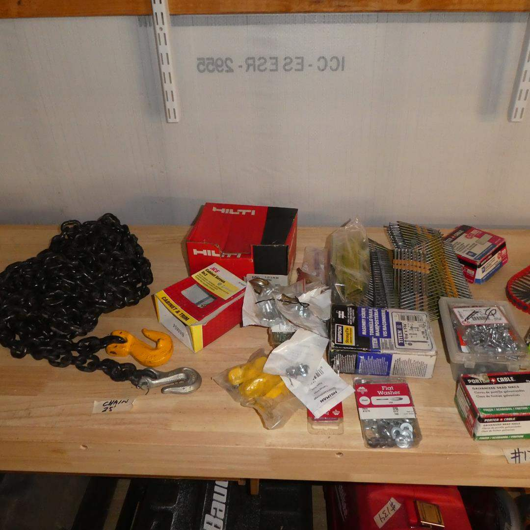 Lot # 178 - Chain, Pulleys & Hardware