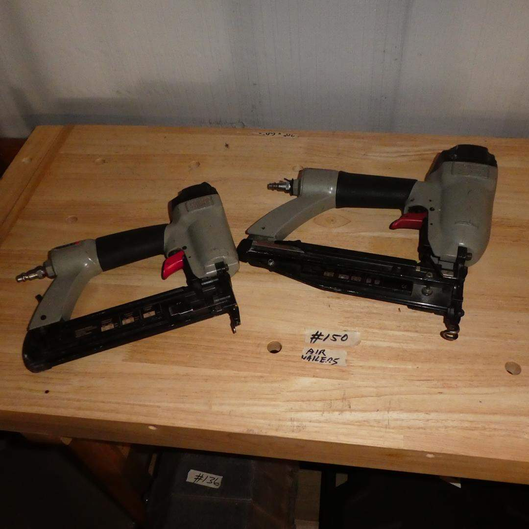 Lot # 150 - Two Porter Cable Air Nailers (main image)
