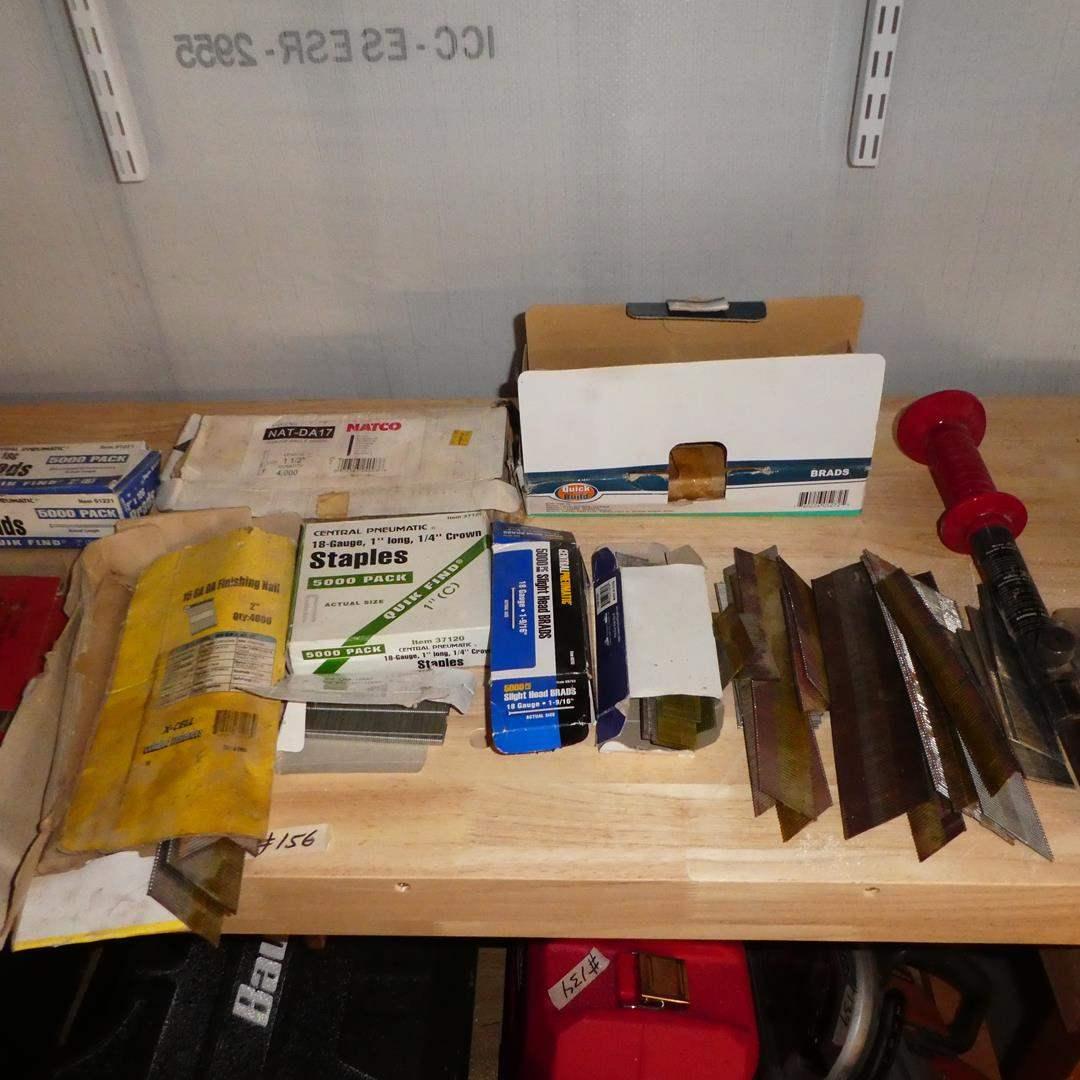 Lot # 156 - Nails, Staples & Cement Nail Gun