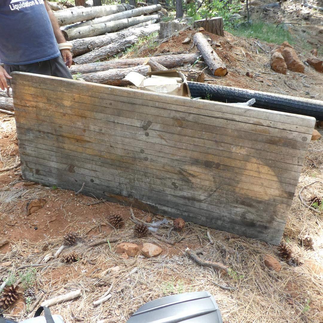 Lot # 227 - Vintage Weathered Wood Table Top (main image)