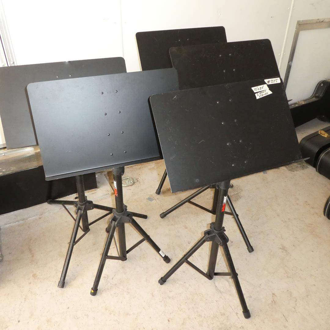 Lot # 325 - Five Free Standing Music Stands