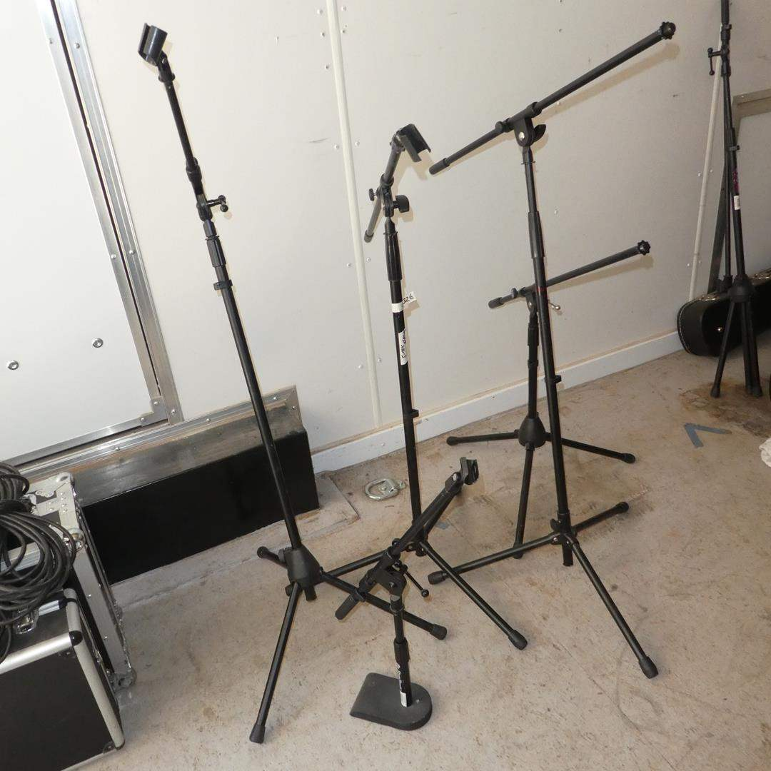 Lot # 326 - Five Microphone Stands
