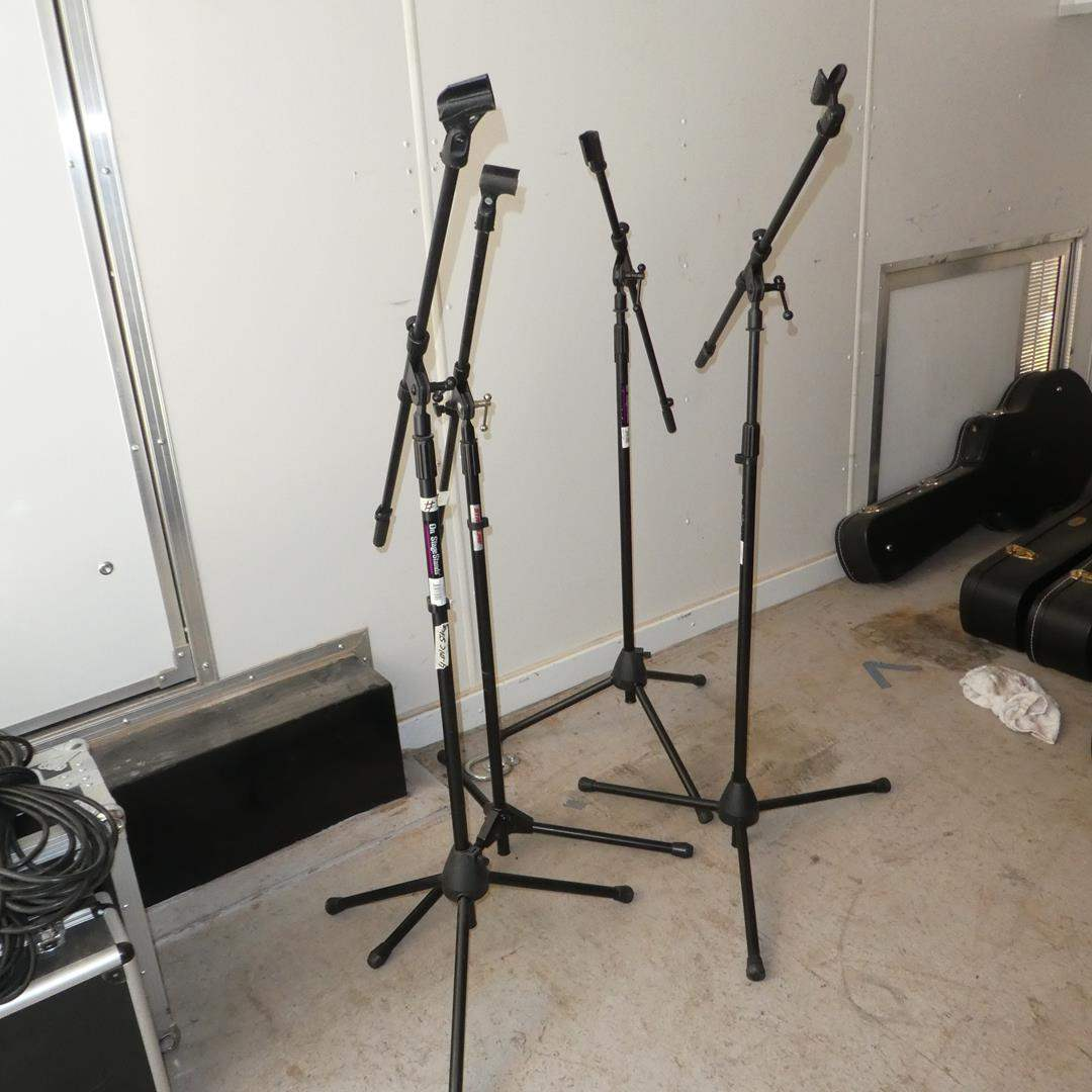Lot # 327 - Four Microphone Stands