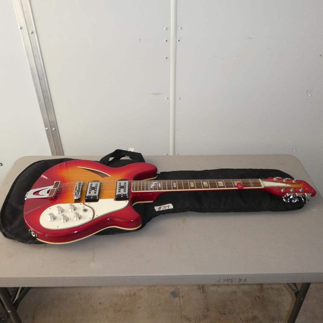 Lot # 329 - Electric Guitar Steel Adjustable Neck Made In Japan w/Soft Case