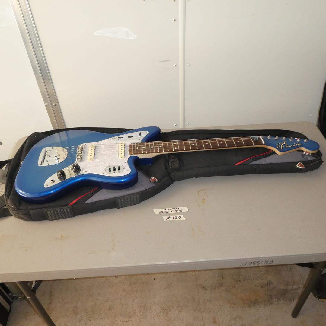 Lot # 330 - Custom Handmade Electric Guitar w/Soft Case (main image)