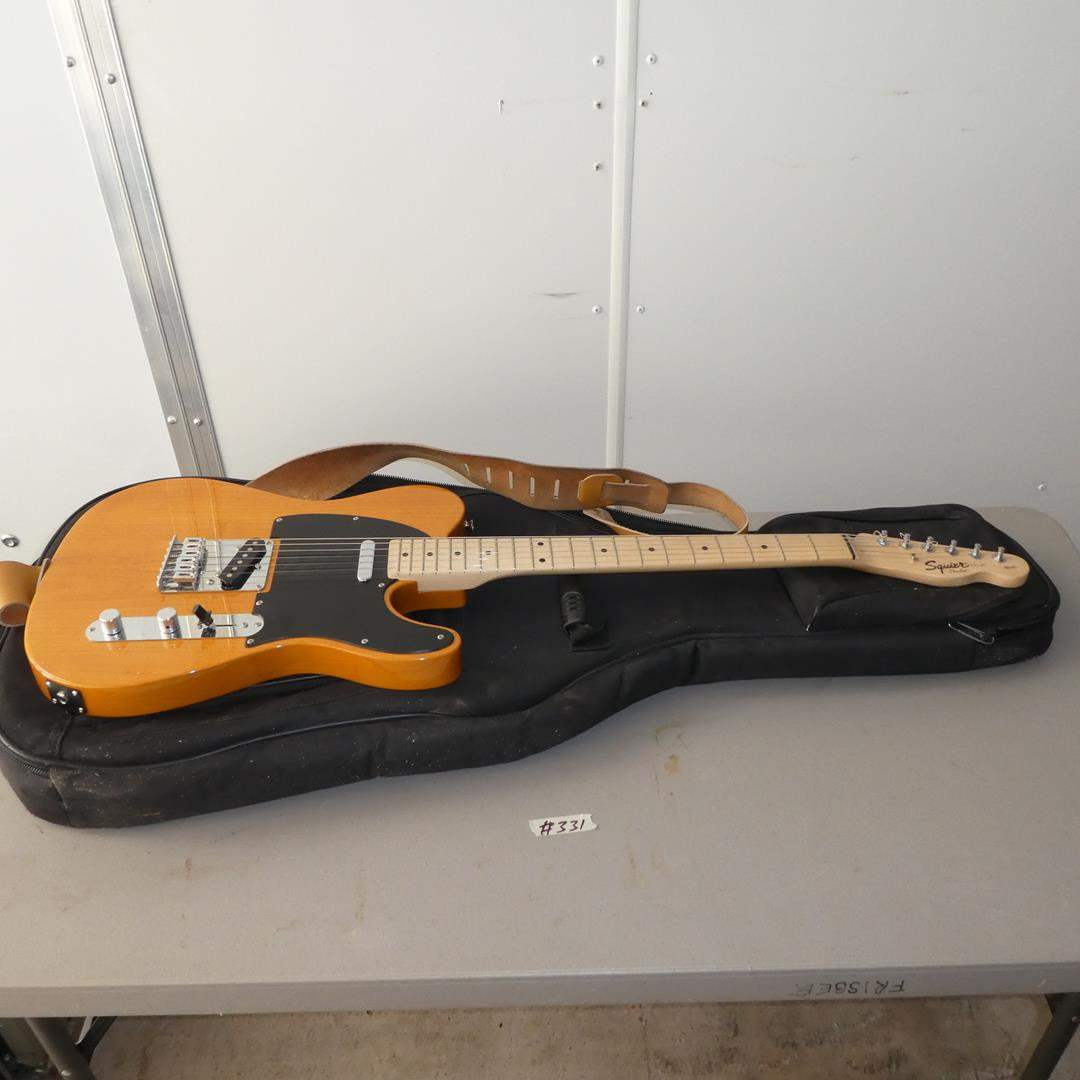 Lot # 331 - Squier by Fender Electric Guitar w/Soft Case