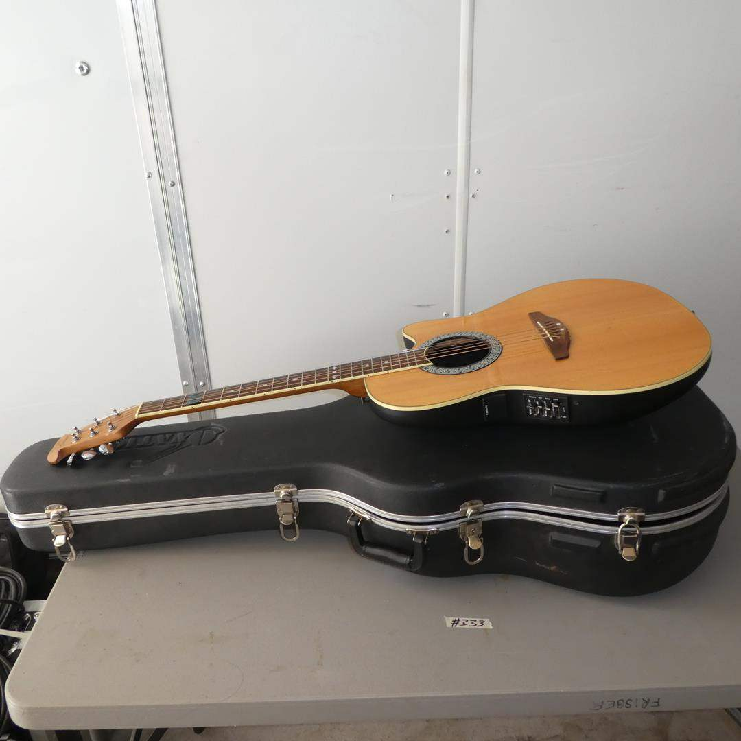Lot # 333 - Ovation Celebrity Acoustic Electric Guitar w/Hard Case