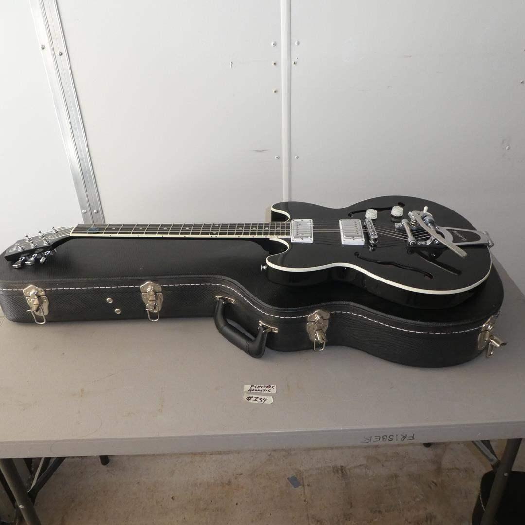 Lot # 334 - Gibson Semi Hollow Electric Guitar Bigsby Vibrato w/Gibson Hard Case