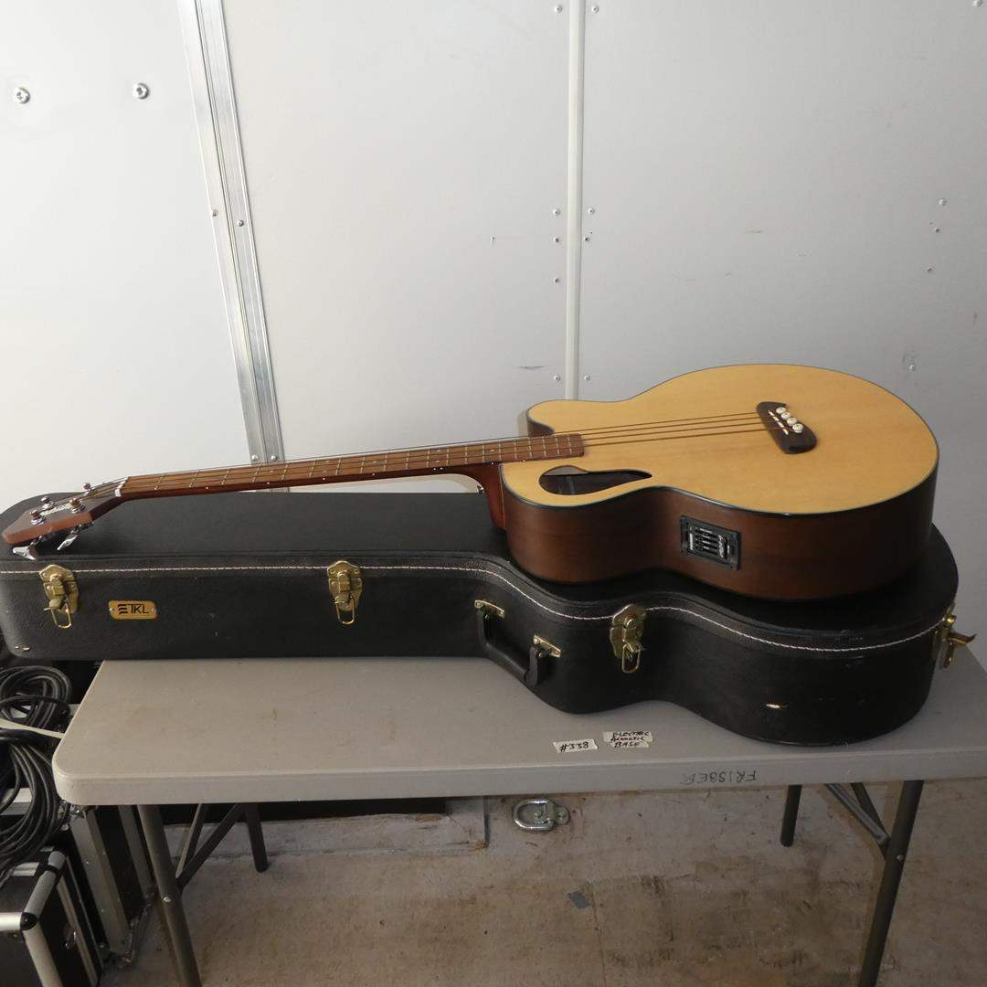 Lot # 338 - Olympia Acoustic Electric Bass w/Hard Case