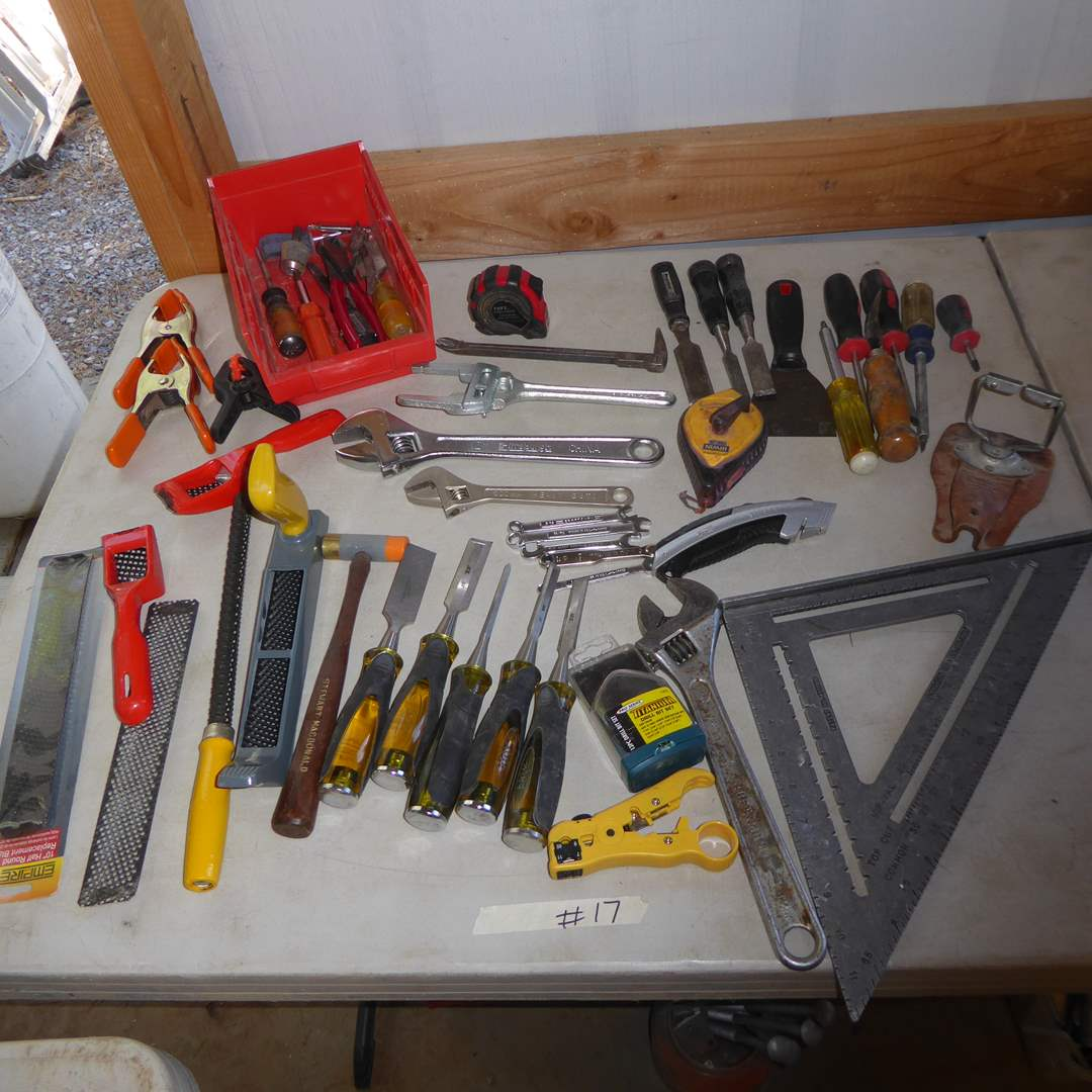 Lot # 17 - Files, Chisels, Wrenches & Other Tools