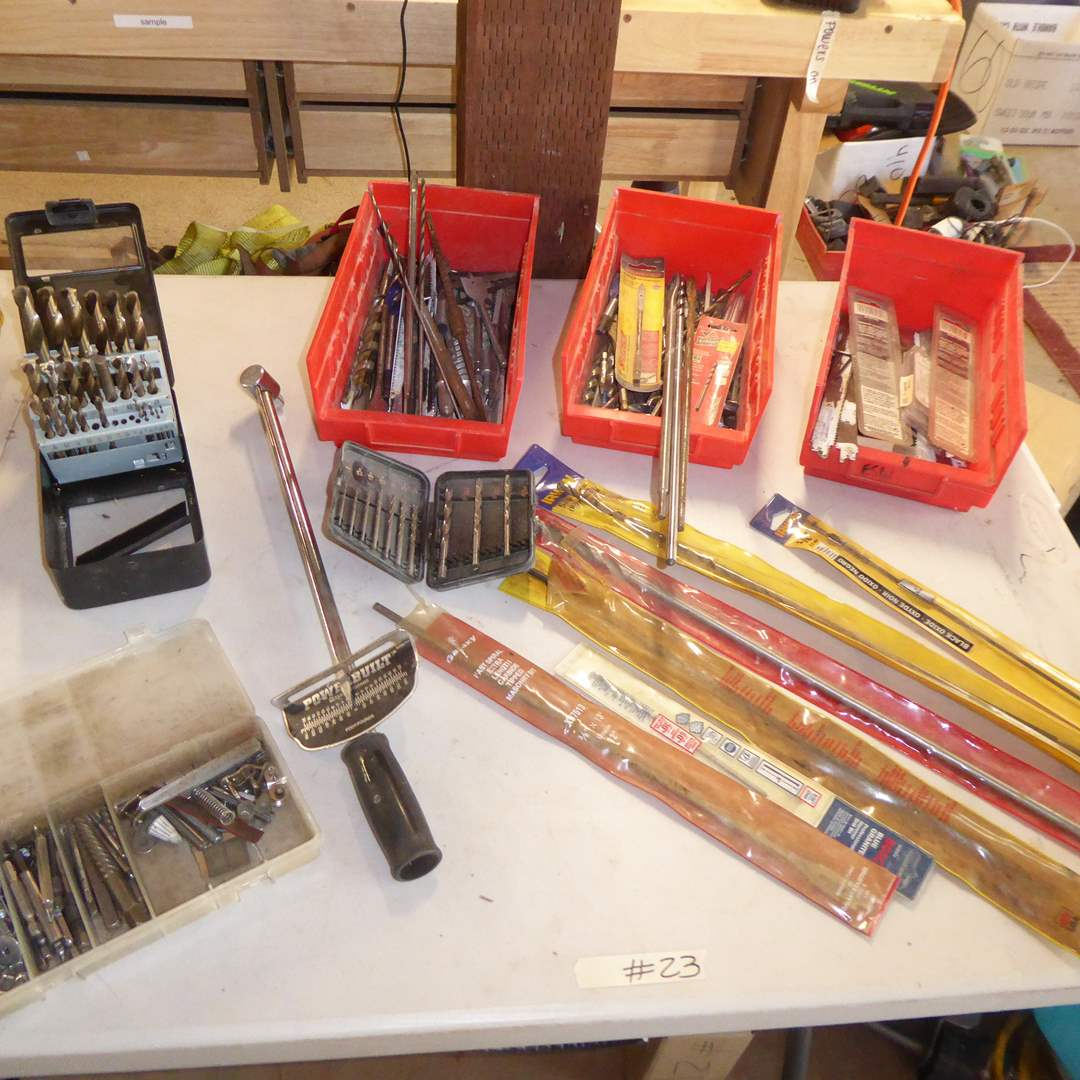 Lot # 23 - Drill Bits, Masonry Bits & Sawzall Blades