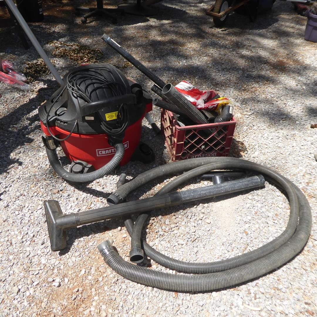 Lot # 30 - 12 Gallon Craftsman Shop Vacuum W/Attachments  (main image)