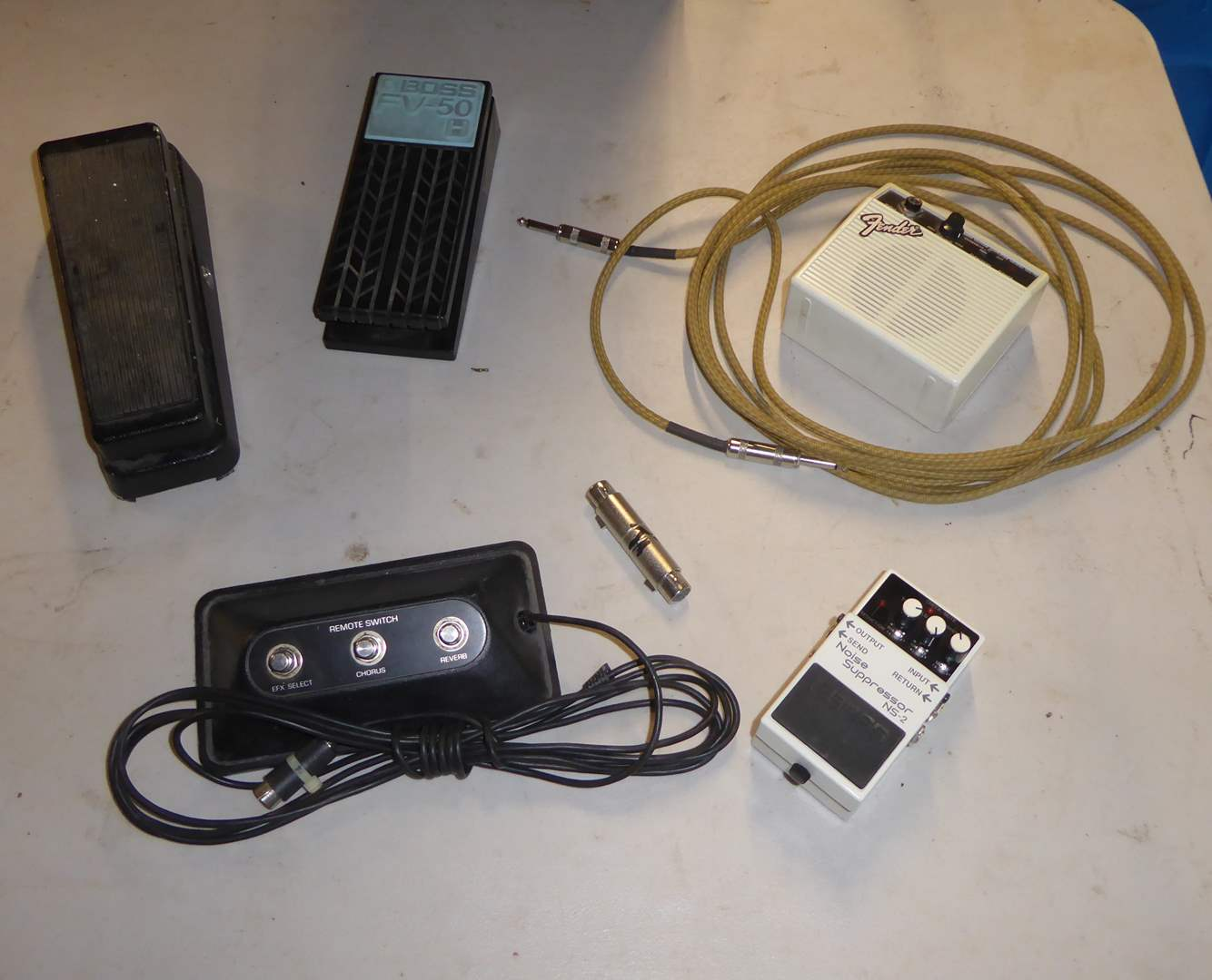 Lot # 351 - Dunlop Cry Baby Wah, Boss Mono Volume Foot Pedal, Noise Supressor NS-2 & More