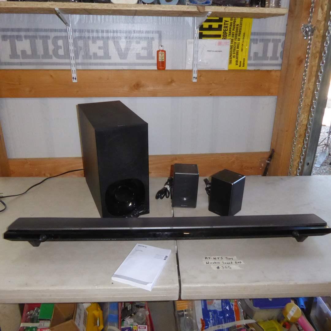 Lot # 355 - Sony SRS ZR5 Personal Audio System, Sony SA-WNT5 Subwoofer & HA-NT5 Soundbar