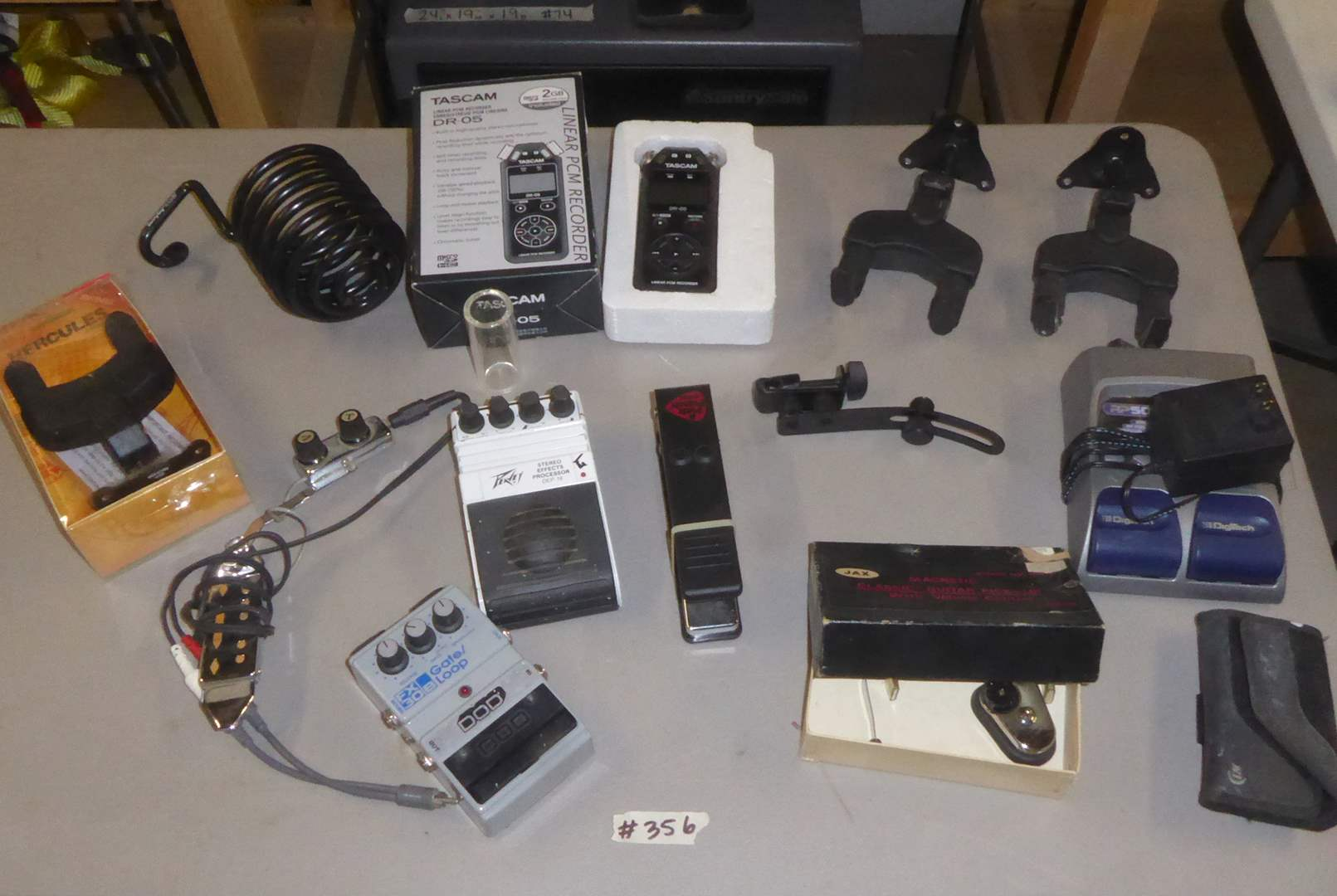 Lot # 356 - Tascam DR-05 Linear PCM Recorder, Peavey Effects Processor, Pick Punch & More