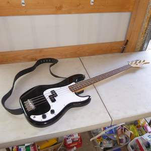 Auction Thumbnail for: Lot # 372 - Fernandes Electric Guitar W/Guitar Stand