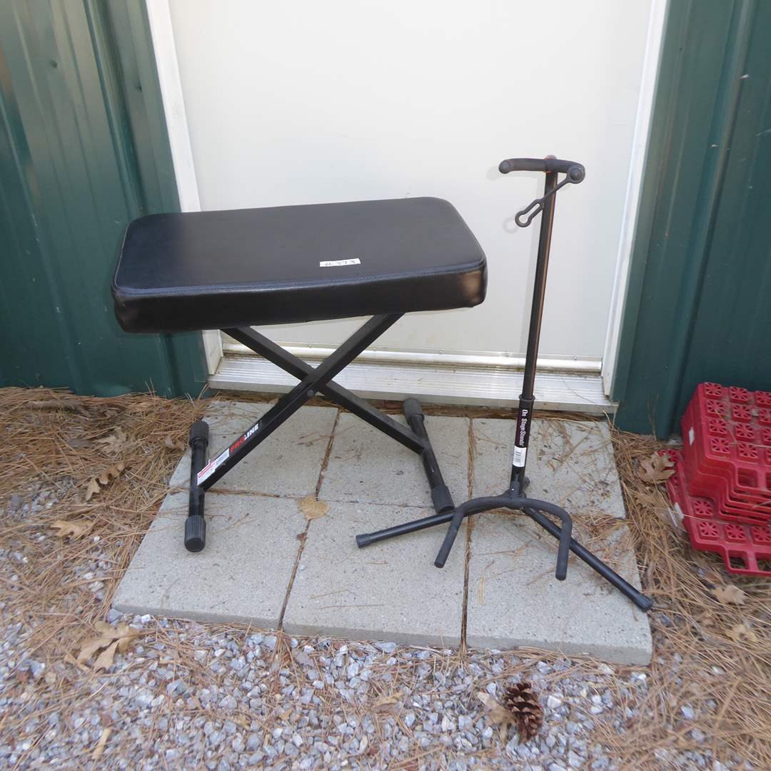 Lot # 373 - Proline Keyboard Bench & On Stage Guitar Stand