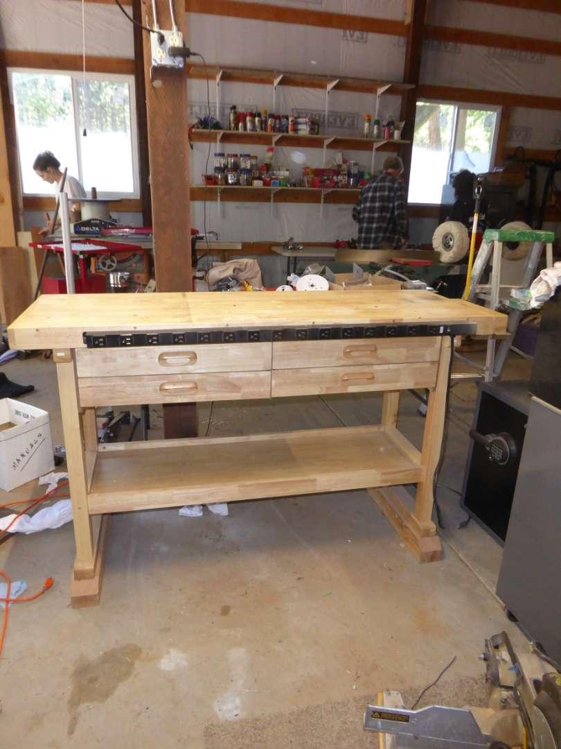 Lot # 3 - Wooden Work Bench