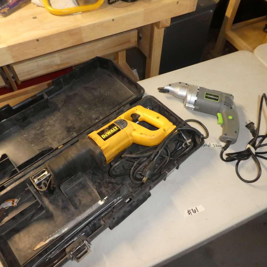 Lot # 61 - DeWalt Reciprocating Saw (DW303) and Genesis Metal Shear