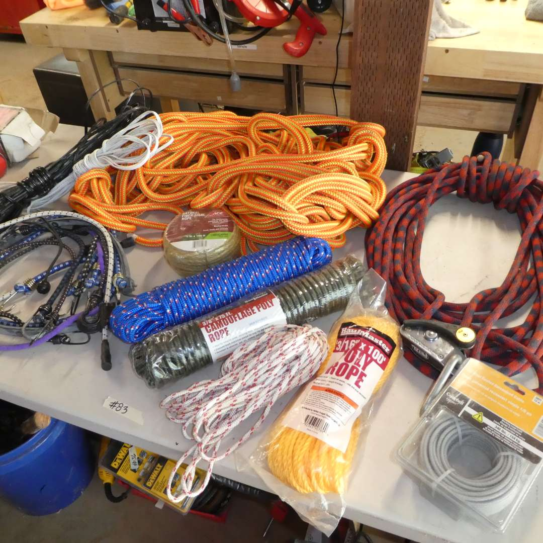 Lot # 83 -  Large Lot of Ropes