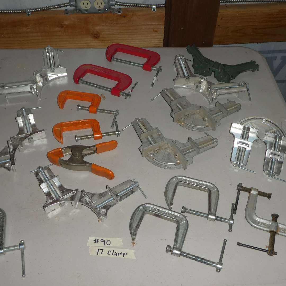 Lot # 90 -  17 Clamps - Framing Clamps, C-Clamps and More