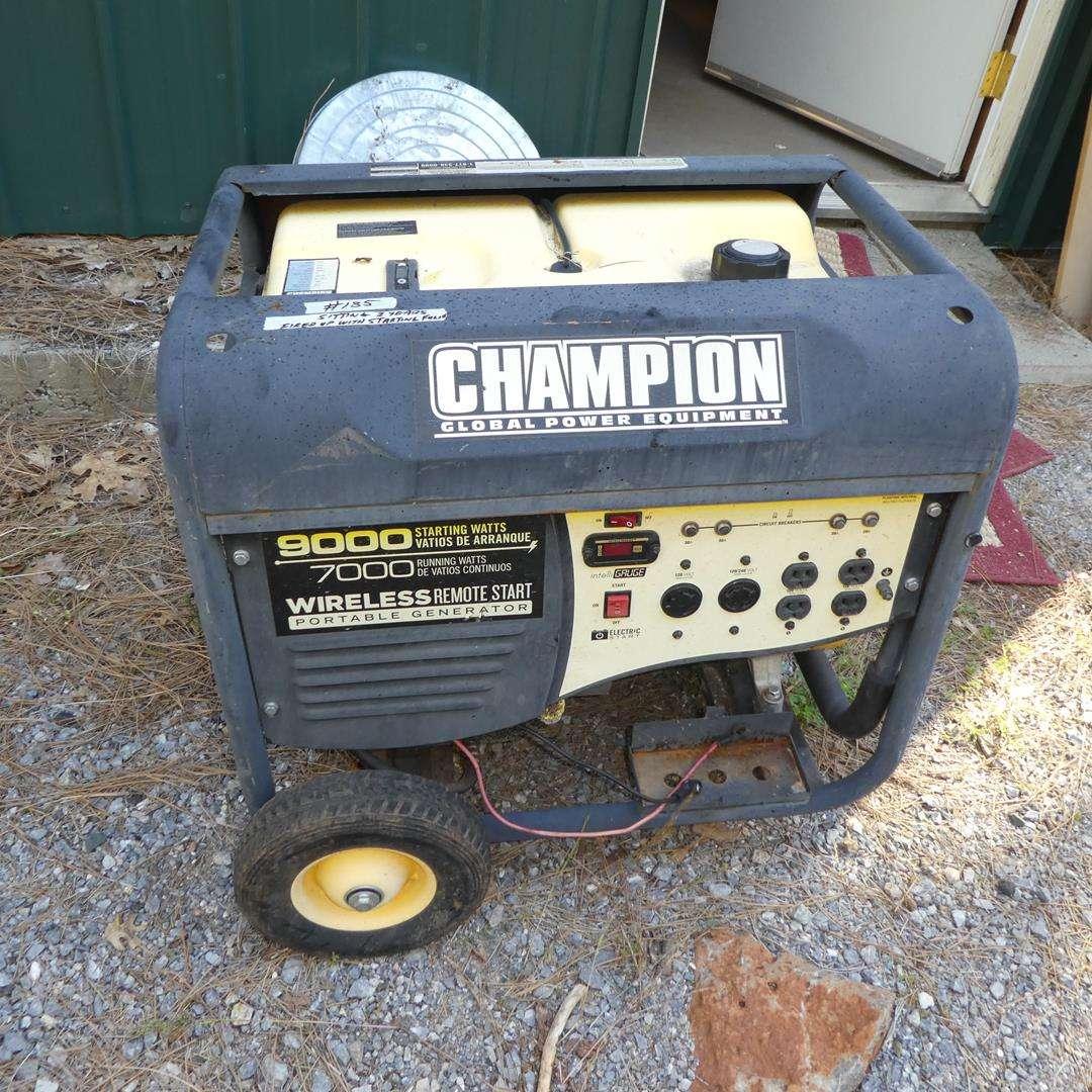 Lot # 185 - Champion Wireless Remote Start Portable Generator