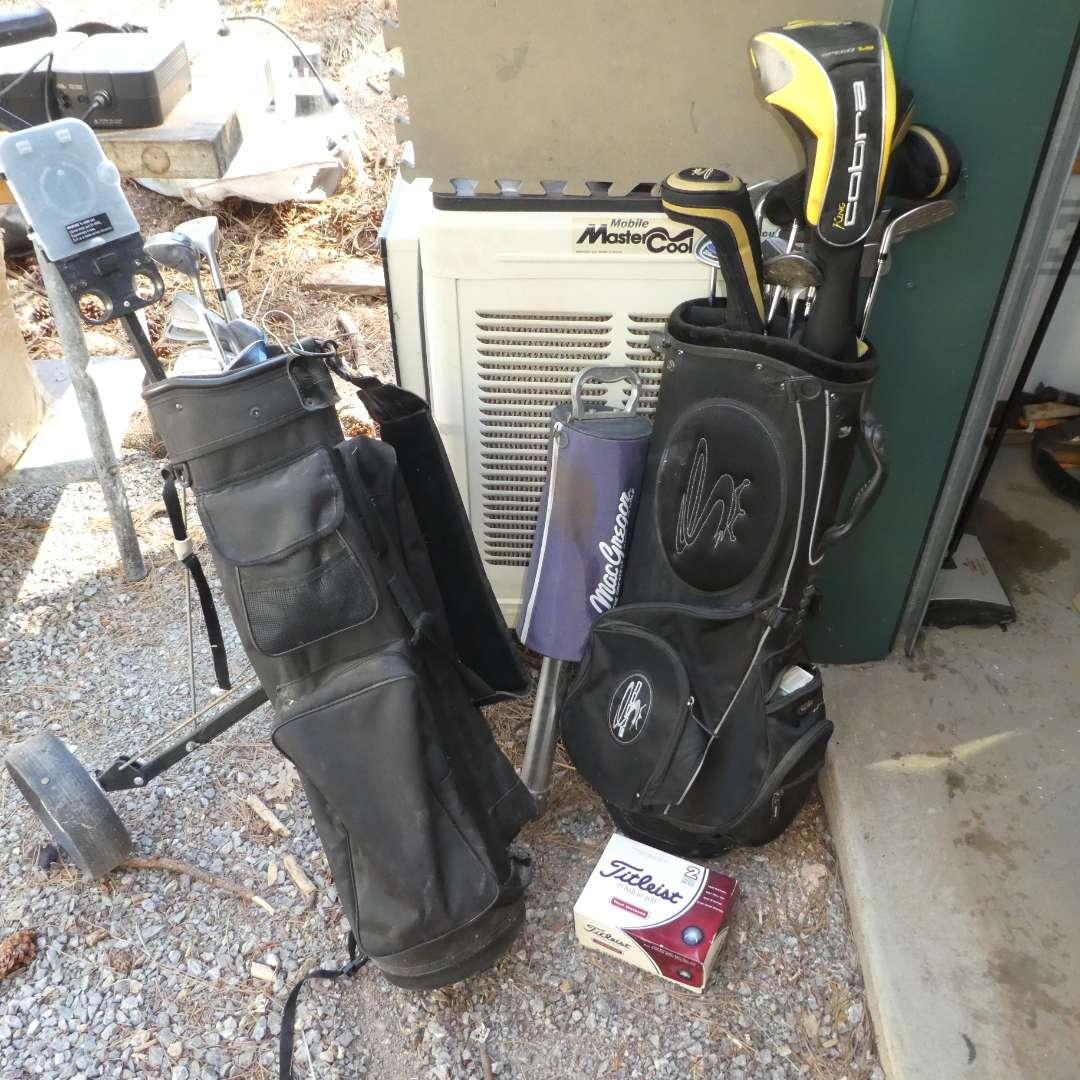 Lot # 207- Cobra, Power Bilt Golf Clubs & More