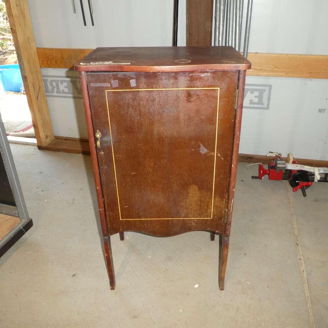 Lot # 210- Antique Record Cabinet