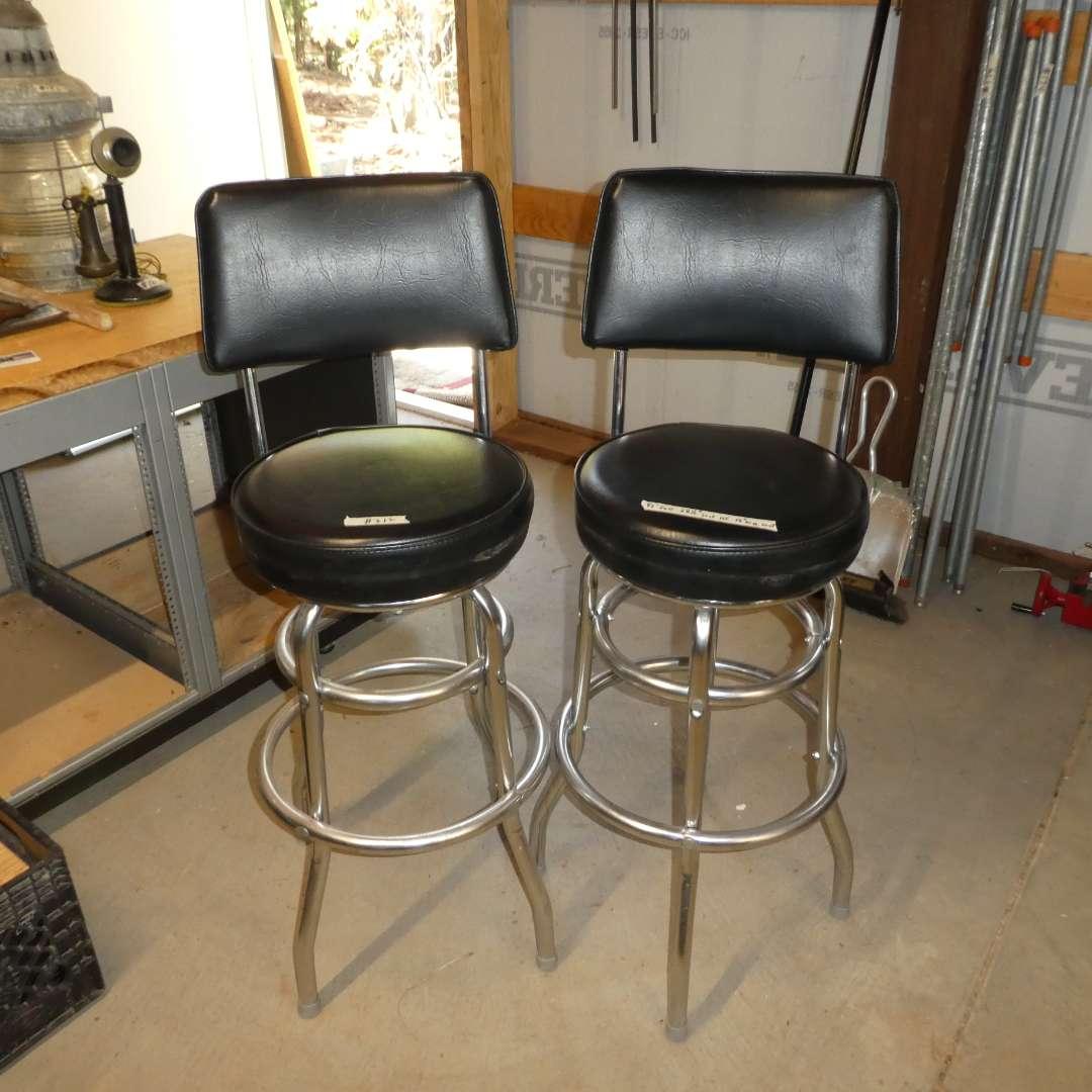 Lot # 212 - Two Nice Swivel Bar Stools (Bennington Furniture Corp.)