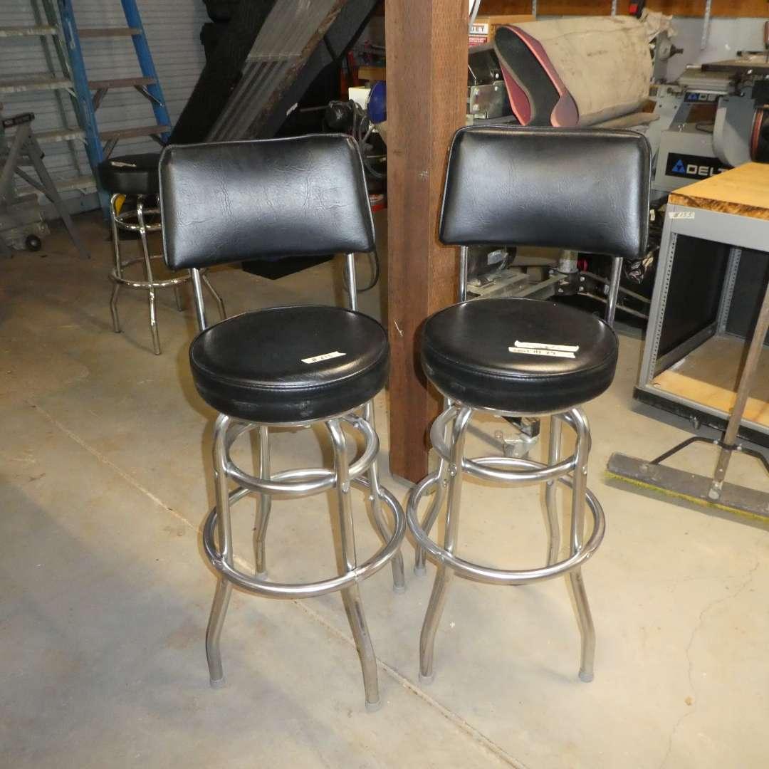 Lot # 213 - Two Nice Swivel Bar Stools (Bennington Furniture Corp.)
