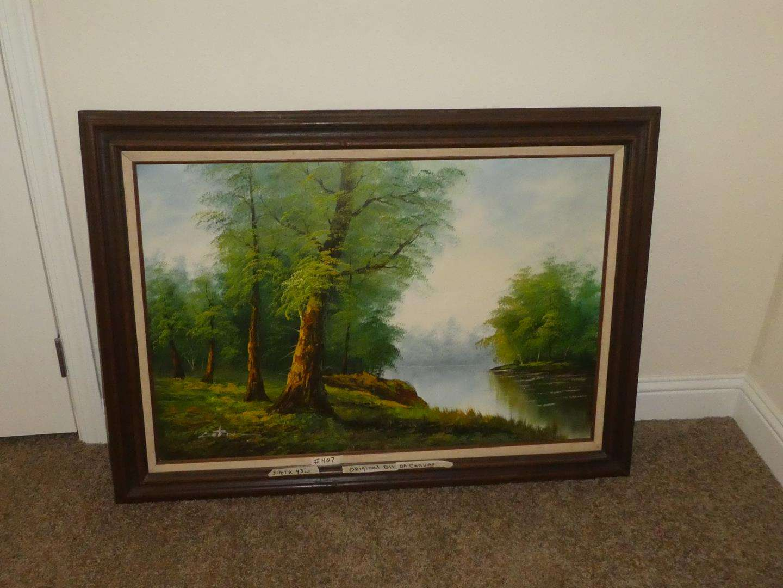 Lot # 407 - Framed Original Oil on Canvas Painting