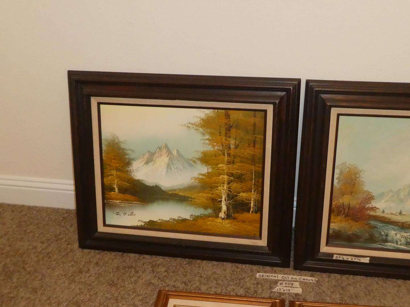 Lot # 408 - Four Signed Oil on Canvas Paintings