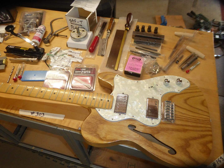 Lot # 303 - Custom Made Guitar & Guitar Making Supplies