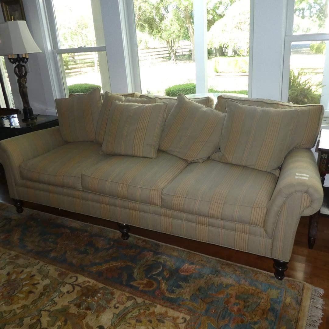 Lot # 50 - Crate & Barrel Striped Sofa - Made In USA