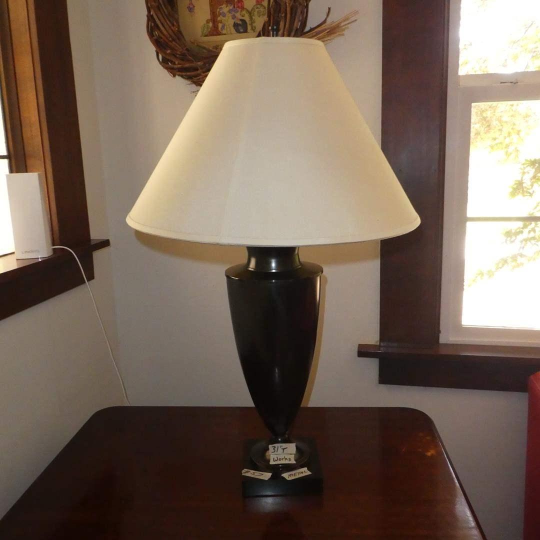 Lot # 57 - Metal Table Lamp (main image)