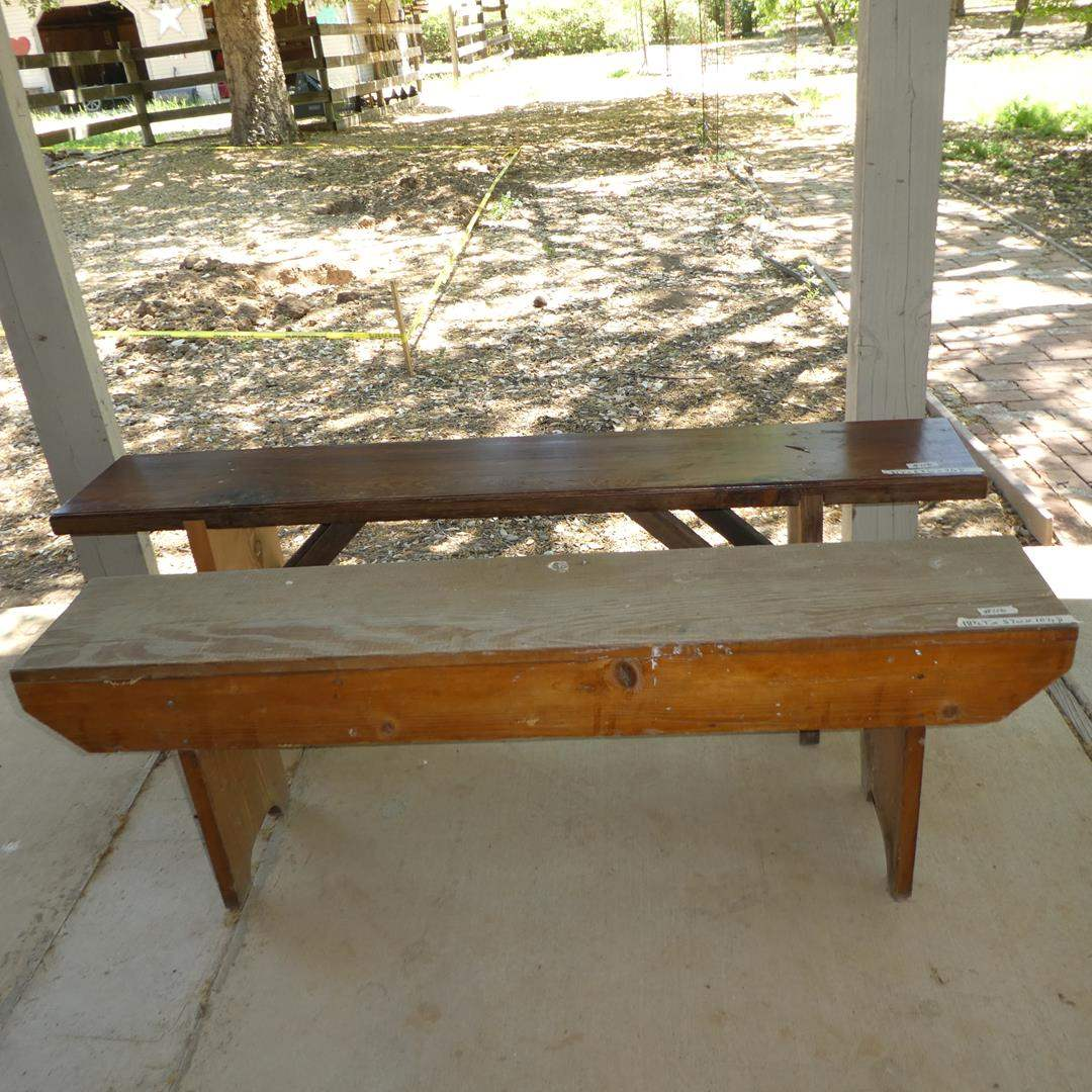 Lot # 116 - Two Picnic Table Benches (main image)