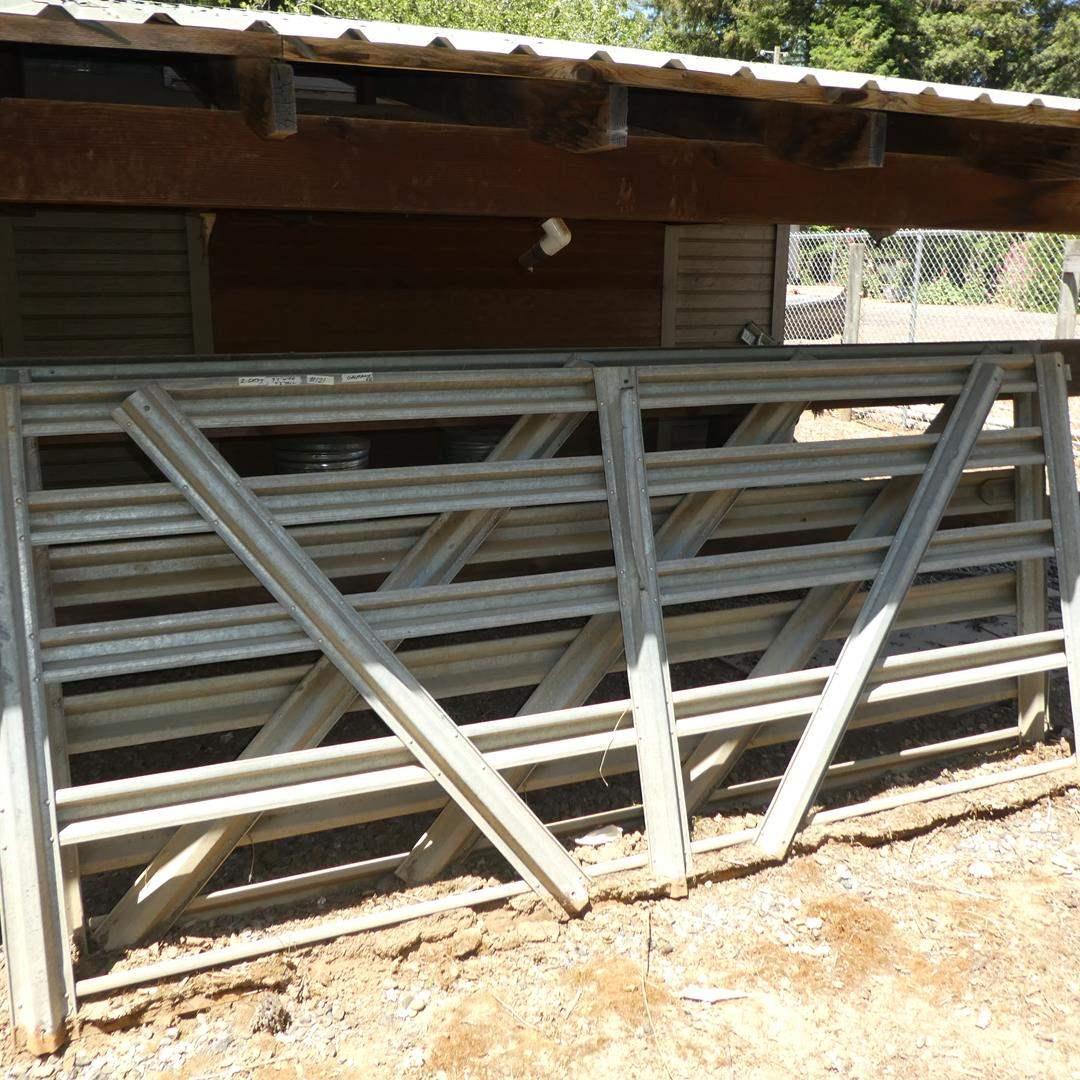 Lot # 121 - Two Galvanized Metal Gates (main image)